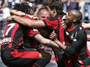 Nice beat lowly Sochaux to stay on course for Europe