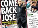 Paper Round: Jose and Lampard at Chelsea next season