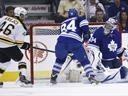 Bruins' Krejci completes hat-trick in OT, Leafs on brink