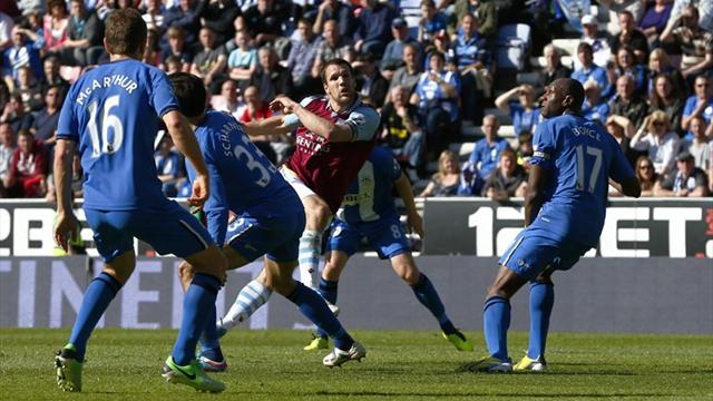 Wigan bow out with draw against Aston Villa