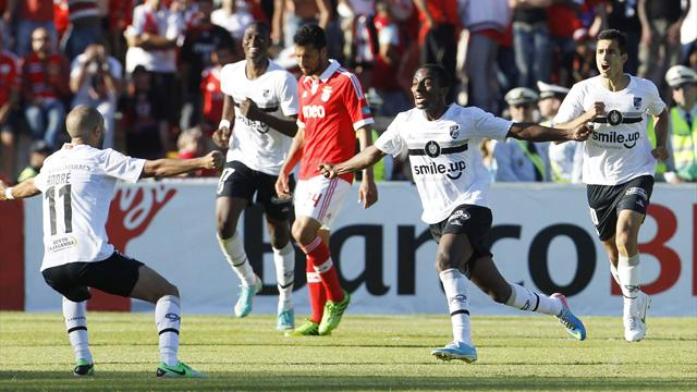Guimaraes upset Benfica to clinch Portuguese Cup