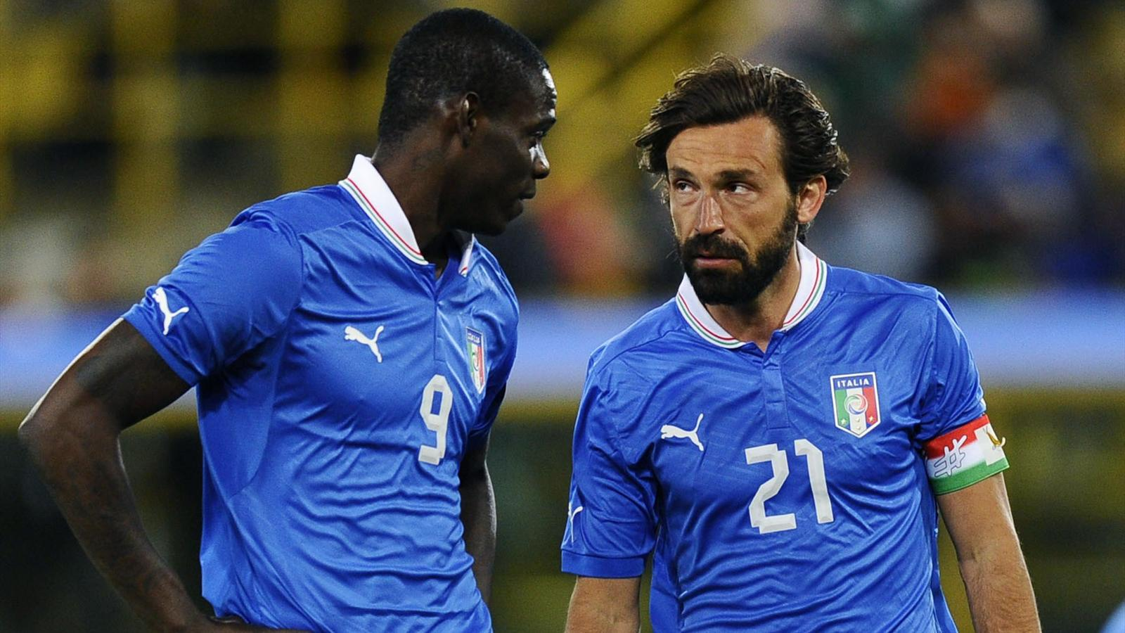 FOOTBALL 2013 Italie - Balotelli et Pirlo