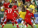 Brazil's suspect temperament exposed in Swiss defeat