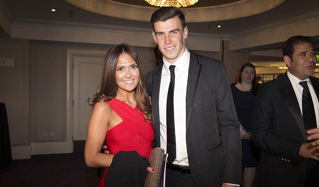 Gareth Bale and his girlfriend (PA Sport)