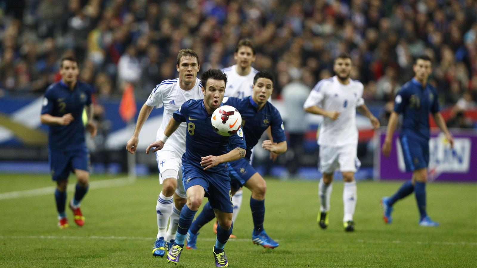 Apr s france finlande 3 0 valbuena nasri - France football qualification coupe monde ...