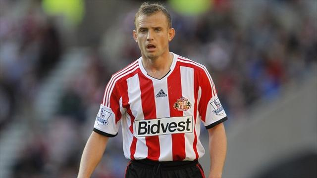 Lee Cattermole, pictured, and Andrea Dossena both saw red just before the interval
