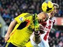 Stoke City defeat Sunderland as Wes Brown sees red