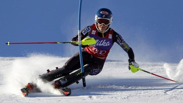 Shiffrin wins slalom World Cup title after victory in Sweden