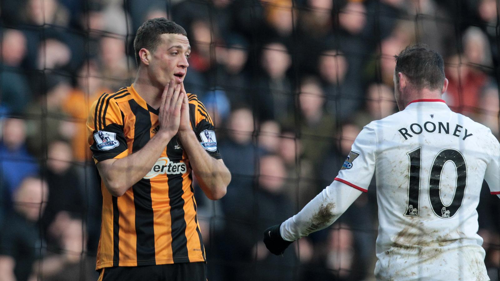 James Chester and Wayne Rooney, Hull v Manchester United (Reuters)