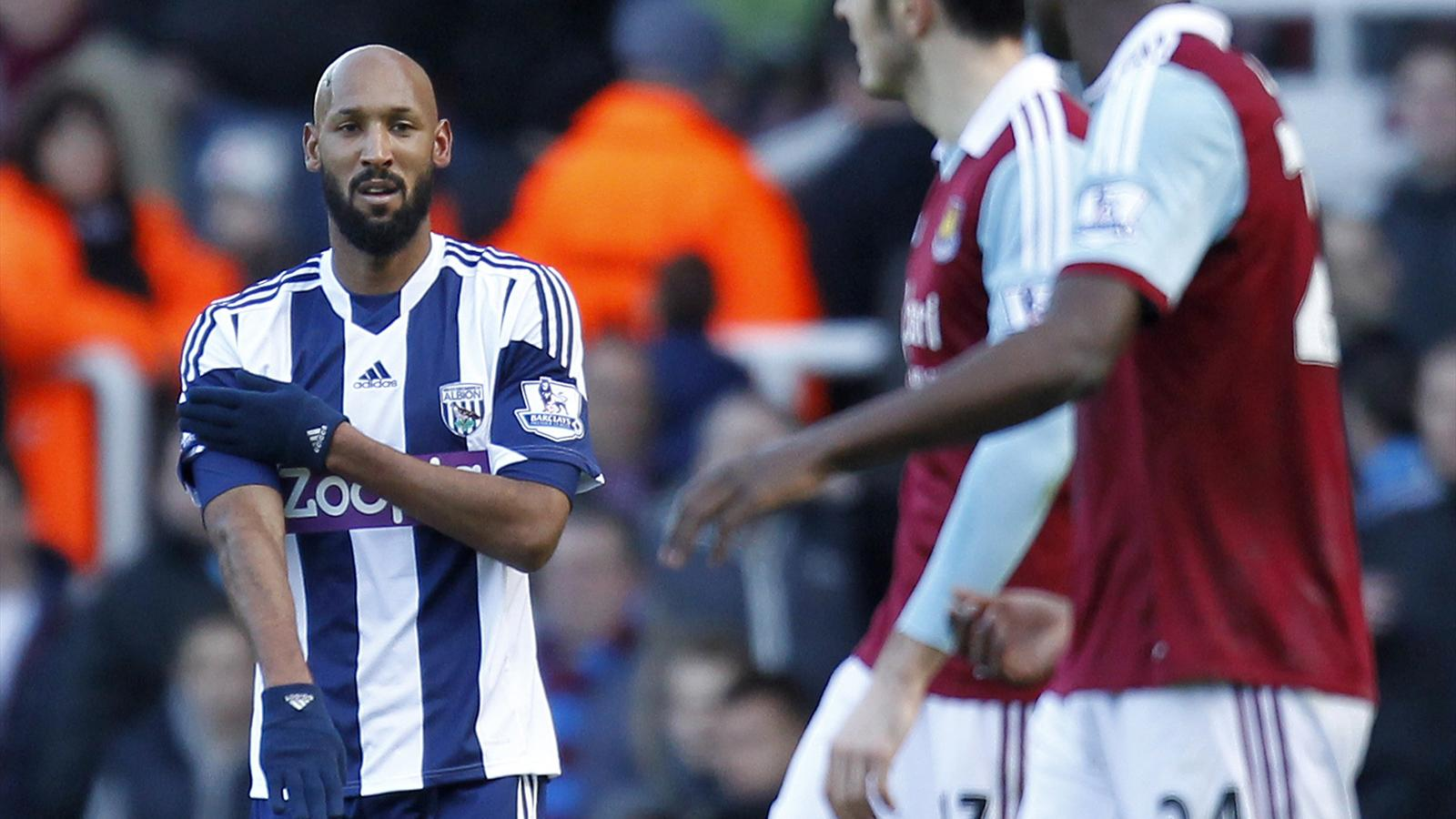 Anelka West Ham-WBA Premier League 2013/2014