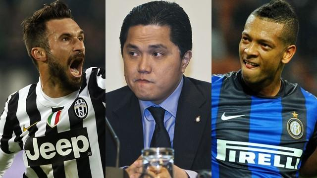 Vucinic Thohir Guarin - Inter 2014 (AP/LaPresse)
