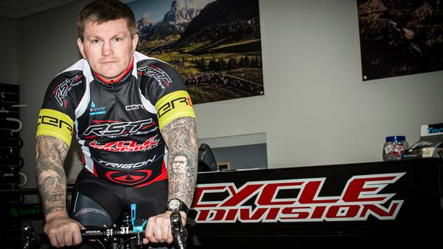 Ricky Hatton gets on his bike to help the homeless