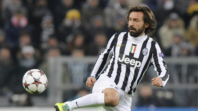 Juventus' Andrea Pirlo controls the ball during their Champions League soccer match against FC Copenhagen at Juventus stadium in Turin November 27, 2013 (Reuters)