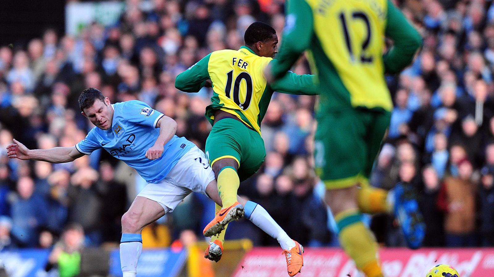 Norwich v Manchester City 08/02/2014 (AFP)