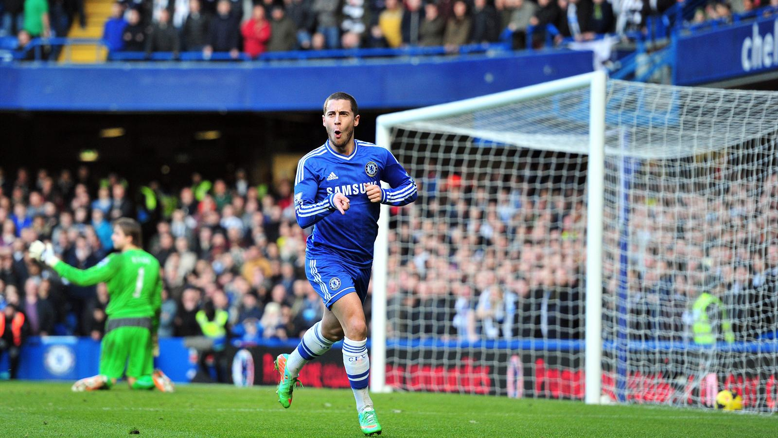 Eden Hazard scores for Chelsea against Newcastle (AFP)