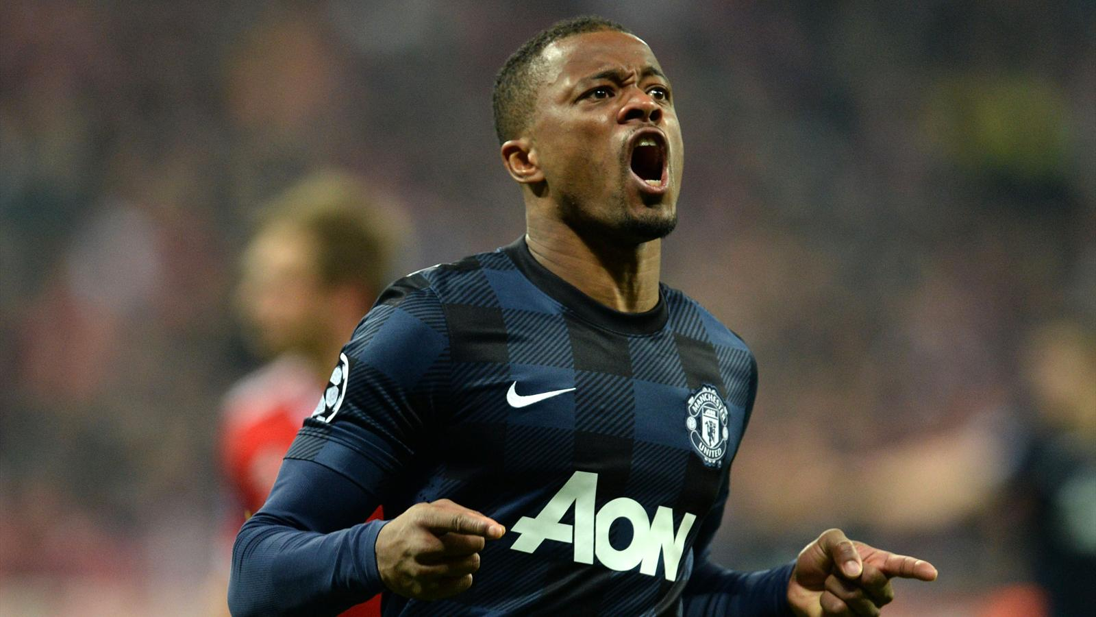 Evra Manchester United Bayern Munich Champions league