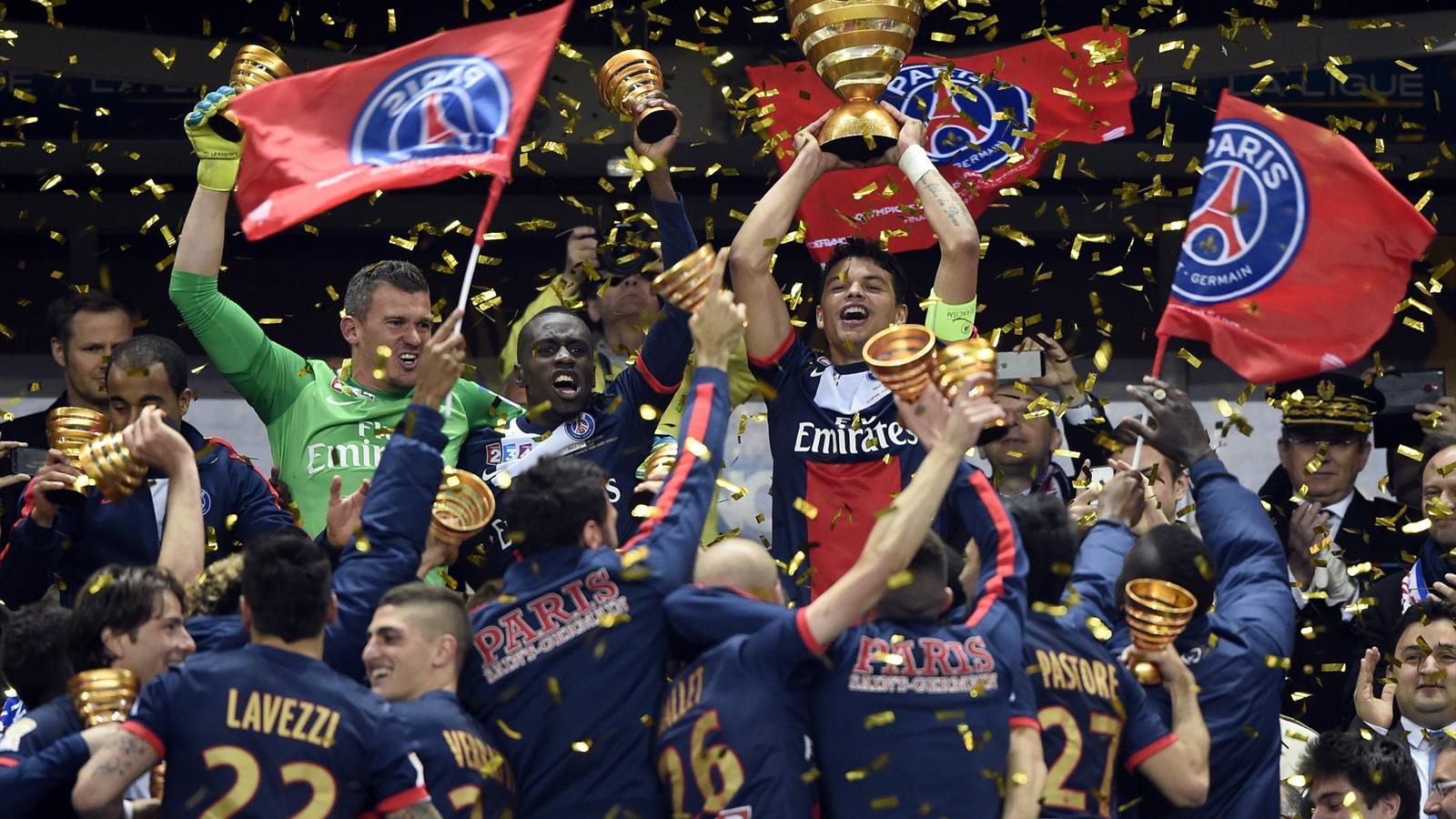 Le psg remporte la coupe de la ligue en battant lyon en finale 2 1 coupe de la ligue 2013 - Coupe de la ligue 2013 14 ...
