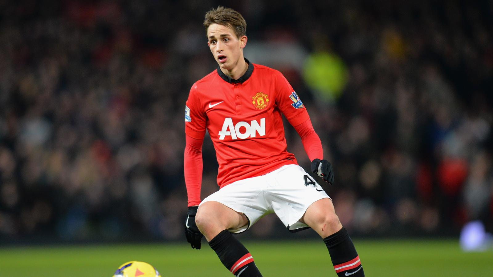 Bildtext:MANCHESTER, ENGLAND - JANUARY 11: Adnan Januzaj of Manchester United in action during the Barclays Premier League match between Manchester United and Swansea City at Old Trafford on January 11, 2014 in Manchester, England. (Photo by Shaun Botteri