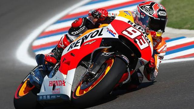 motogp argentina marquez snatches third straight victory motorcycling eurosport australia. Black Bedroom Furniture Sets. Home Design Ideas