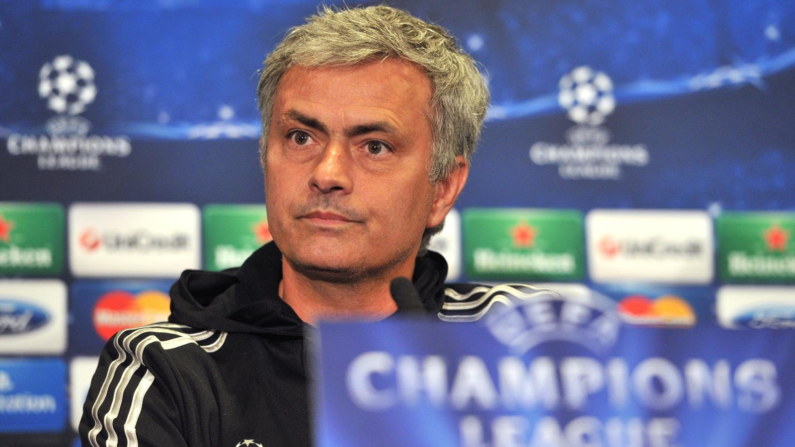 Chelsea's Portuguese manager Jose Mourinho holds a press conference at Stamford Bridge in London, on April 29, 2014 (Getty)