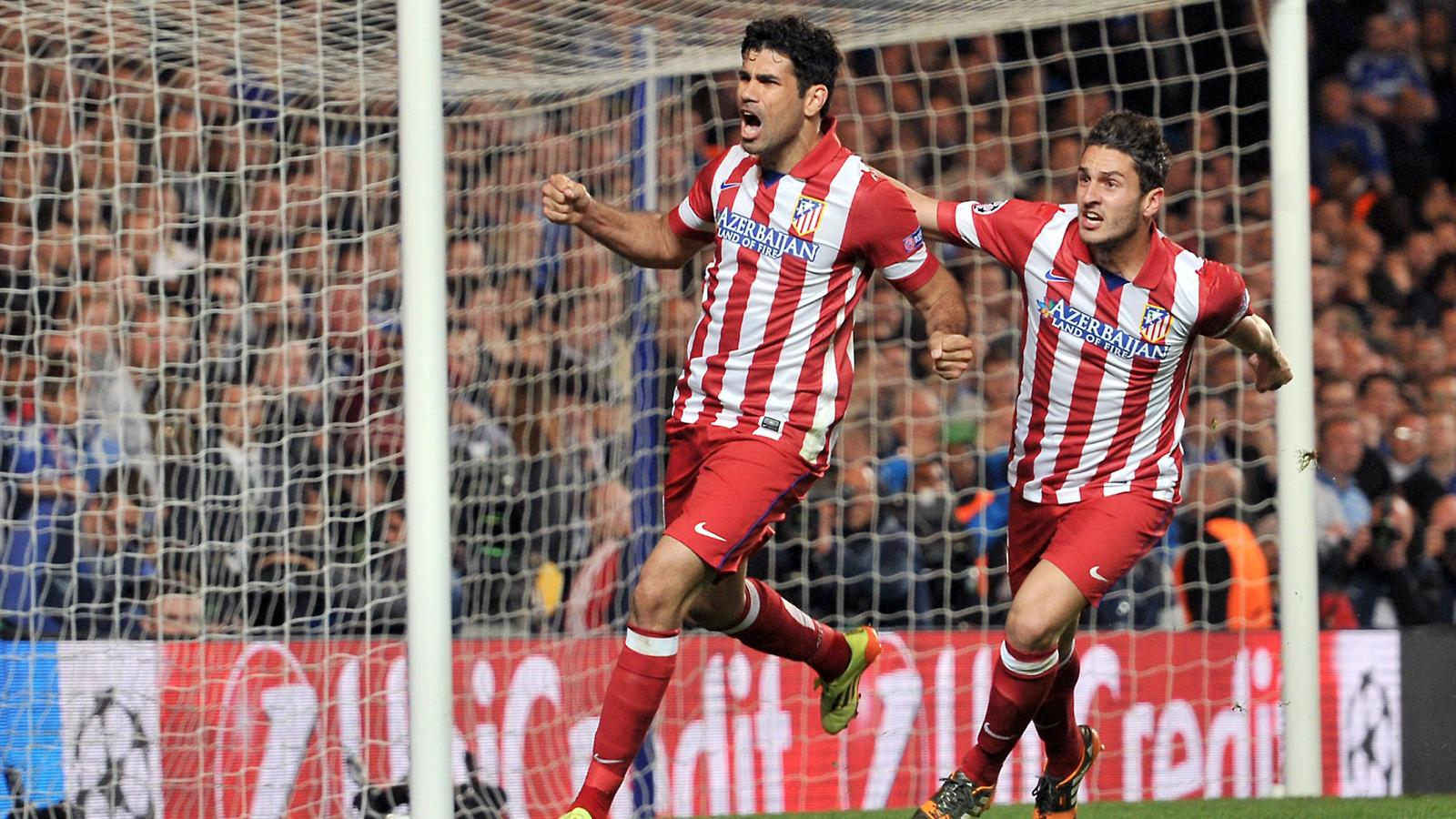Diego Costa (Atlético Madrid), auteur du 2e but face à Chelsea 2014