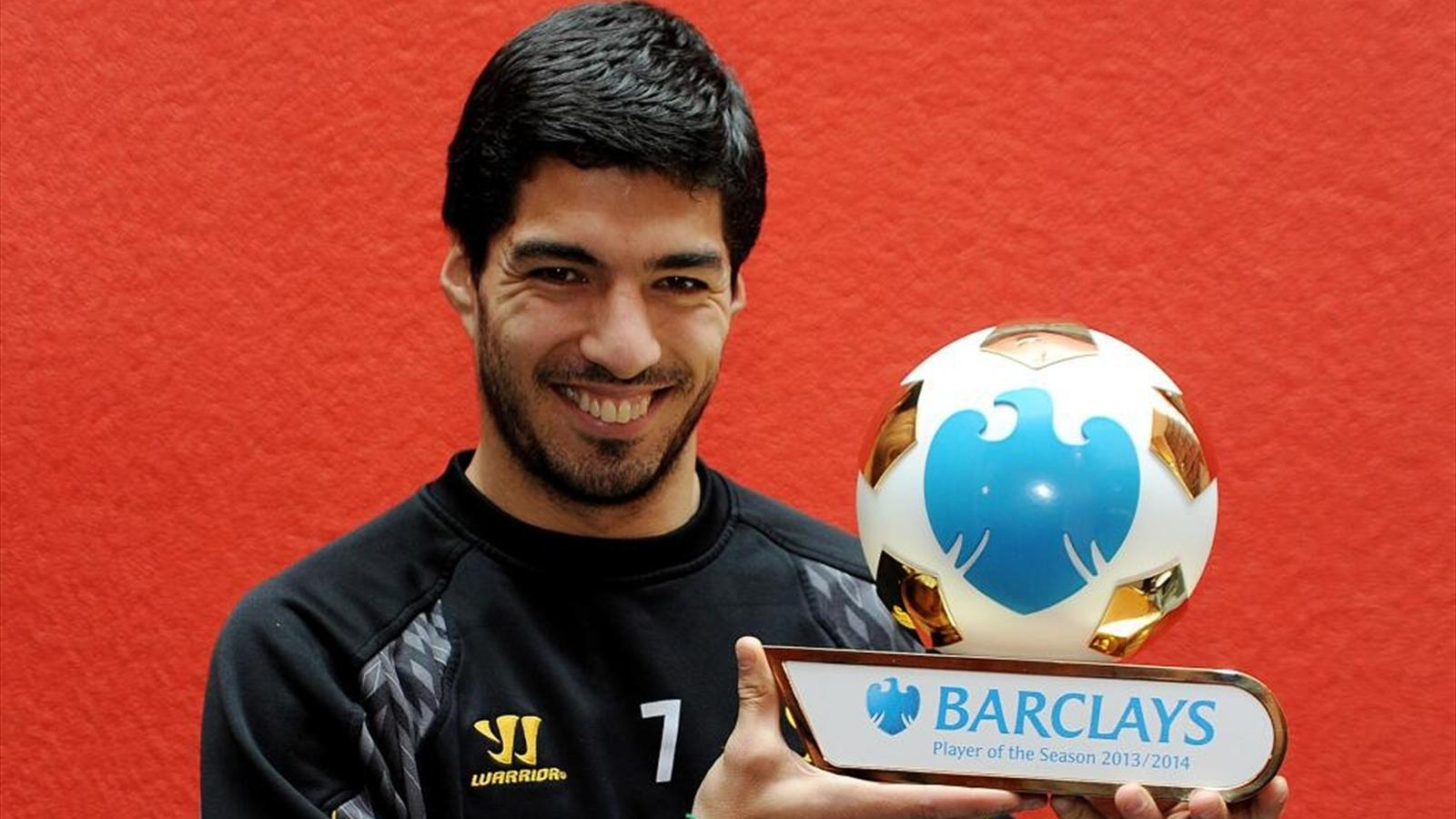 Luis Suarez is named as Barclays Player of the Season