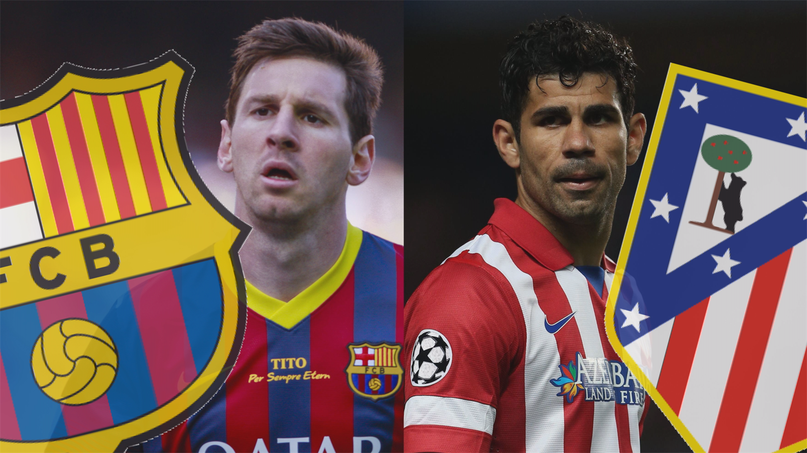 Messi Diego Costa Barcelona Atletico
