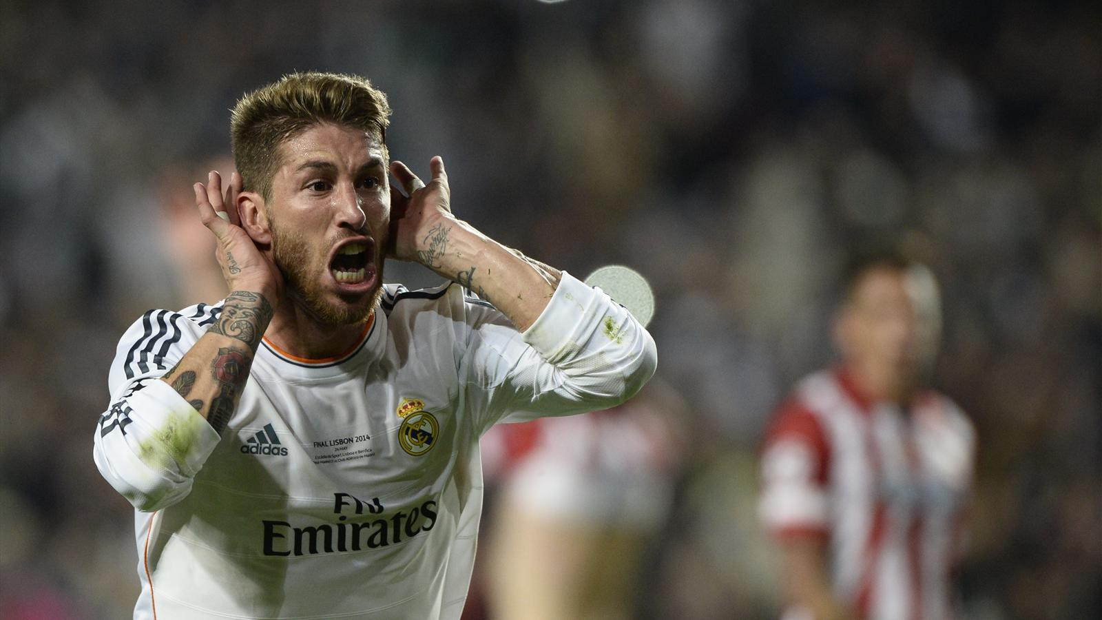 Sergio Ramos equalizes in the Champions League final