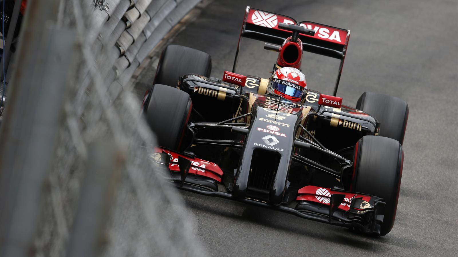 Des points pour Romain Grosjean (Lotus) au Grand Prix de Monaco 2014
