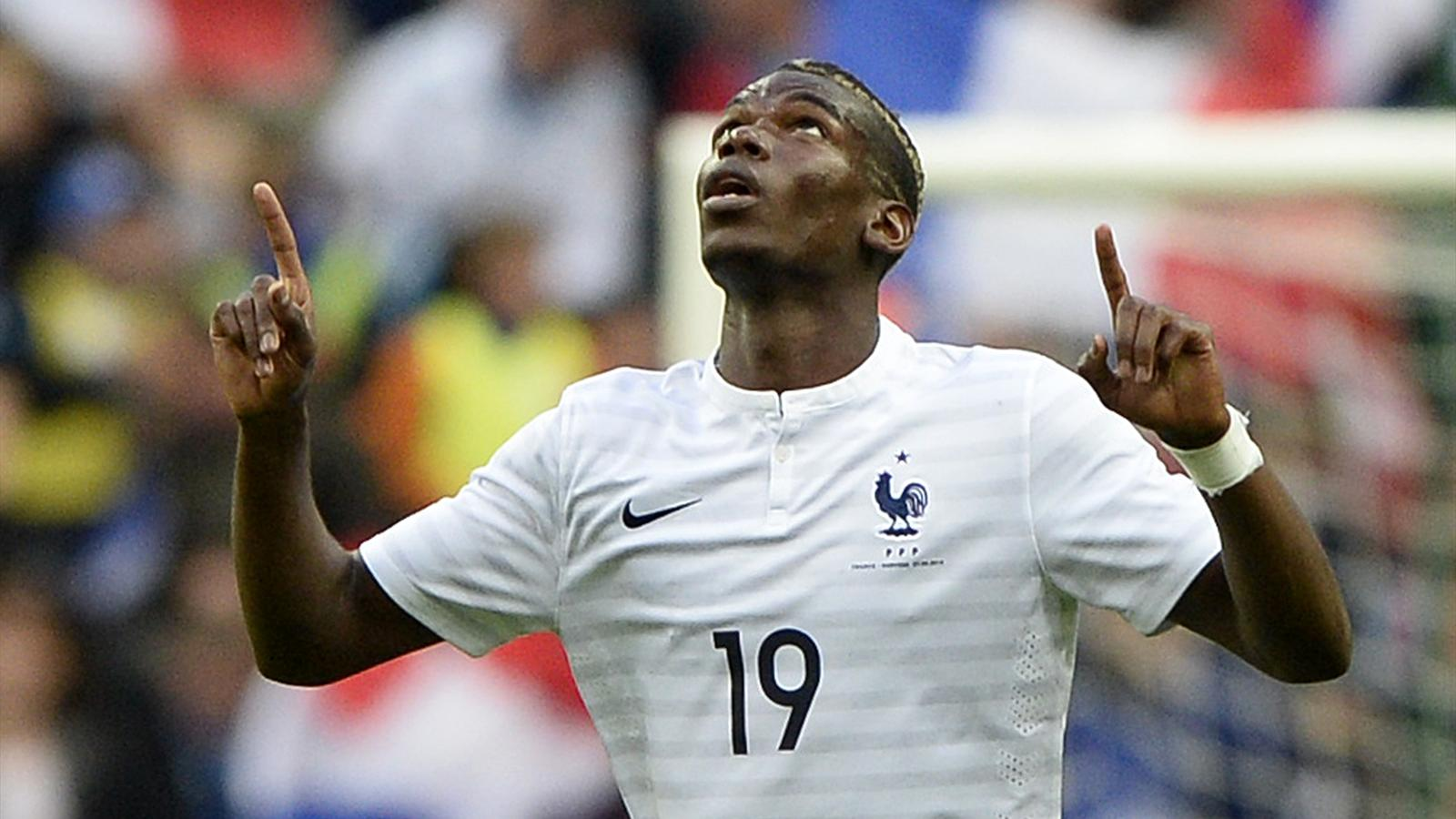 Paul Pogba a inscrit le premier but contre la Norvège (4-0)