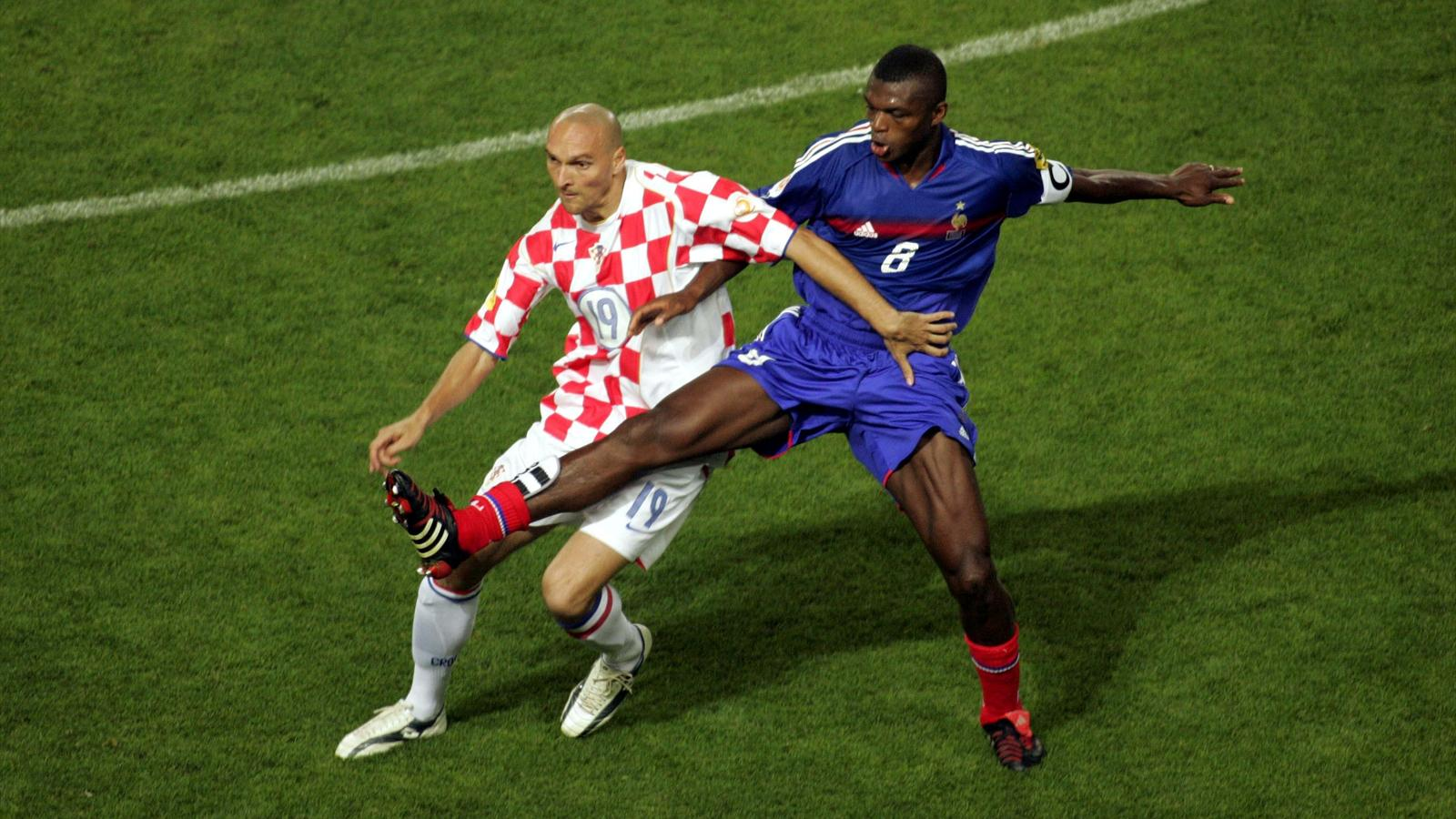 Marcel Desailly lors de France-Croatie (Euro 2004)