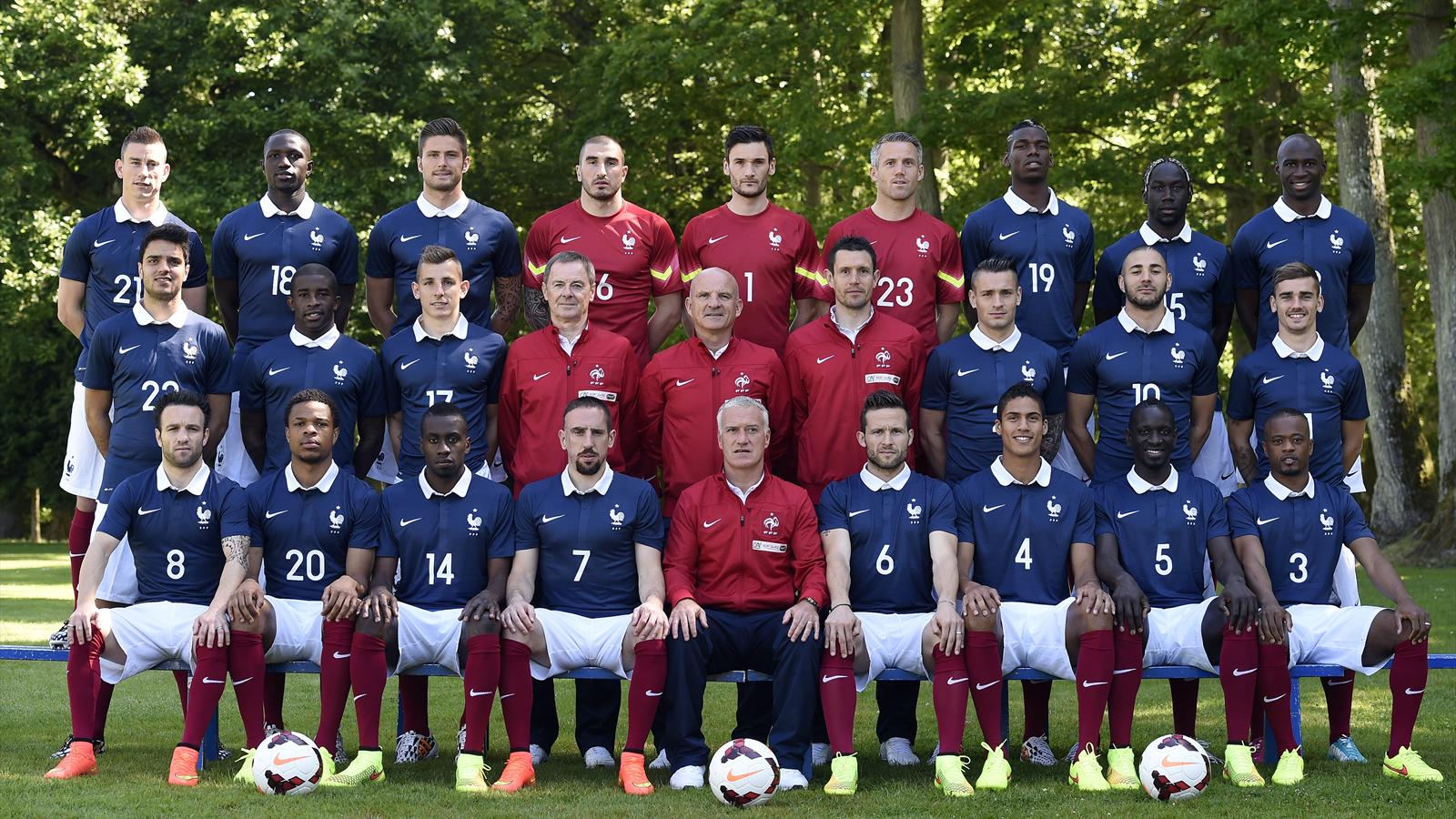 La photo officielle des bleus pour la coupe du monde coupe du monde 2014 football eurosport - Coupe de france 2014 foot ...