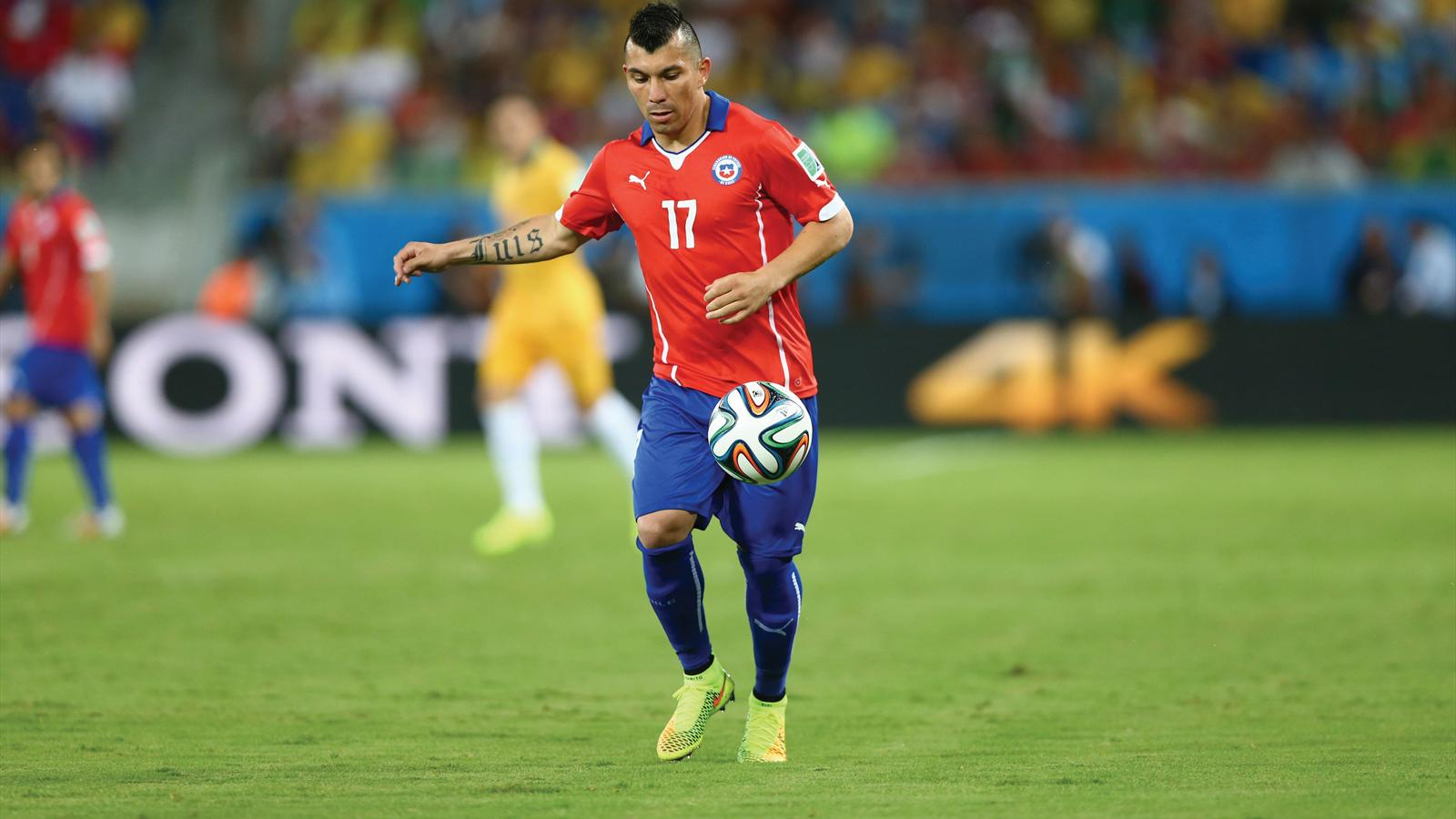 Gary Medel of Chile in action during the 2014 FIFA World Cup Brazil