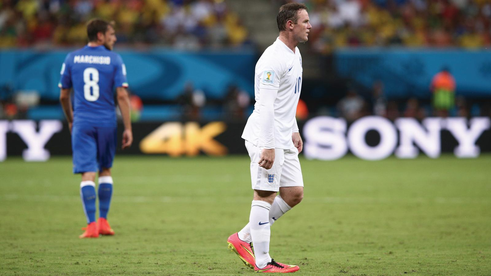 Wayne Rooney of England looks on during the 2014 FIFA World Cup Brazil.