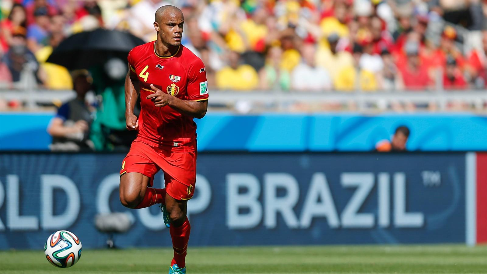 Vincent Kompany in Belgium against Algeria