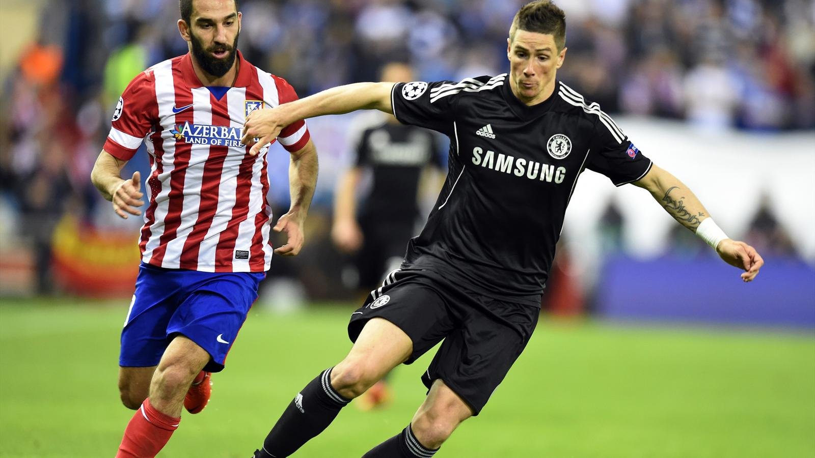 Fernando Torres v Atletico Madrid in the 2013/2014 Champions League (AFP