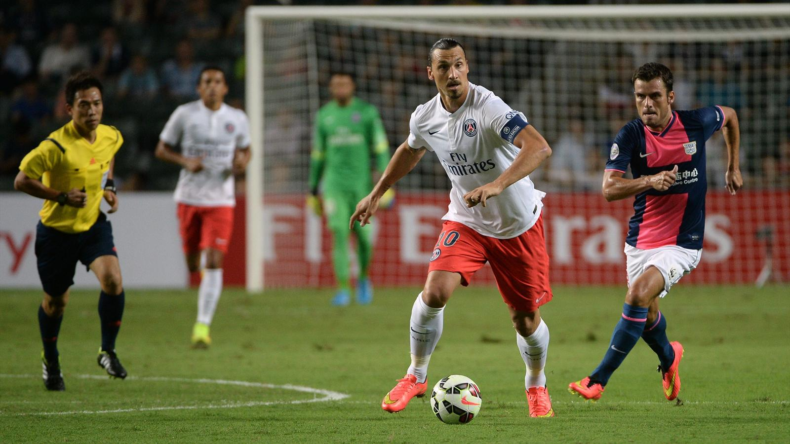 Zlatan Ibrahimovic v Kitchee (AFP)