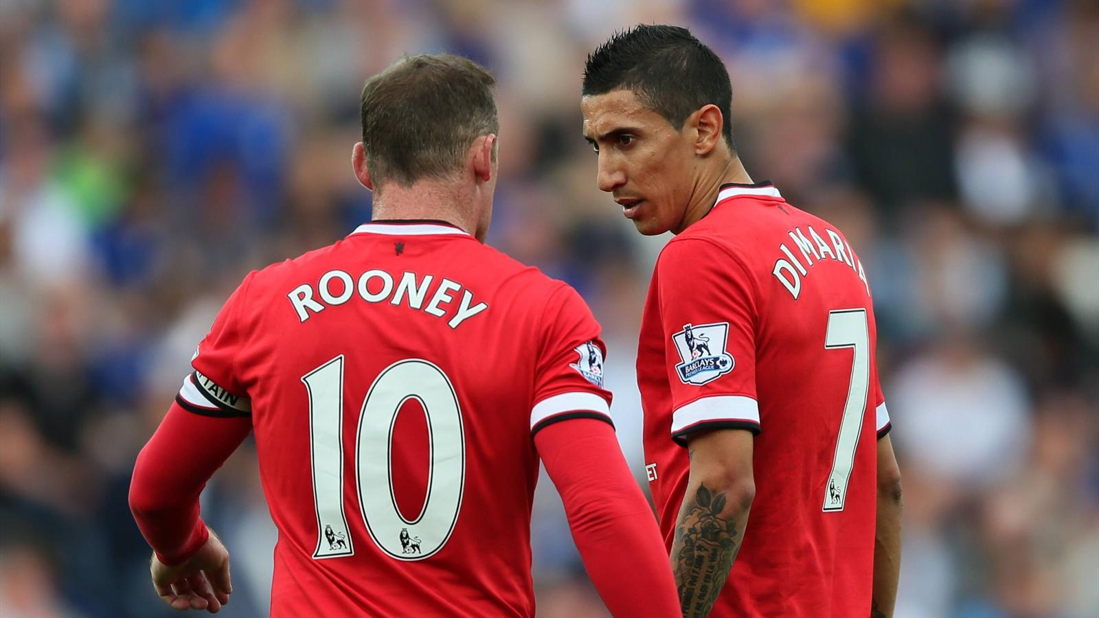 Angel Di Maria Playing With Wayne Rooney Just Like Playing With