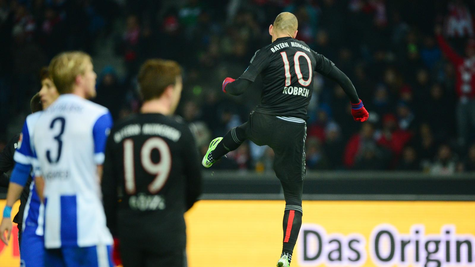 Arjen Robben scores as Bayern Munich grind out win in Berlin - Bundesliga 2014-2015 - Football ...