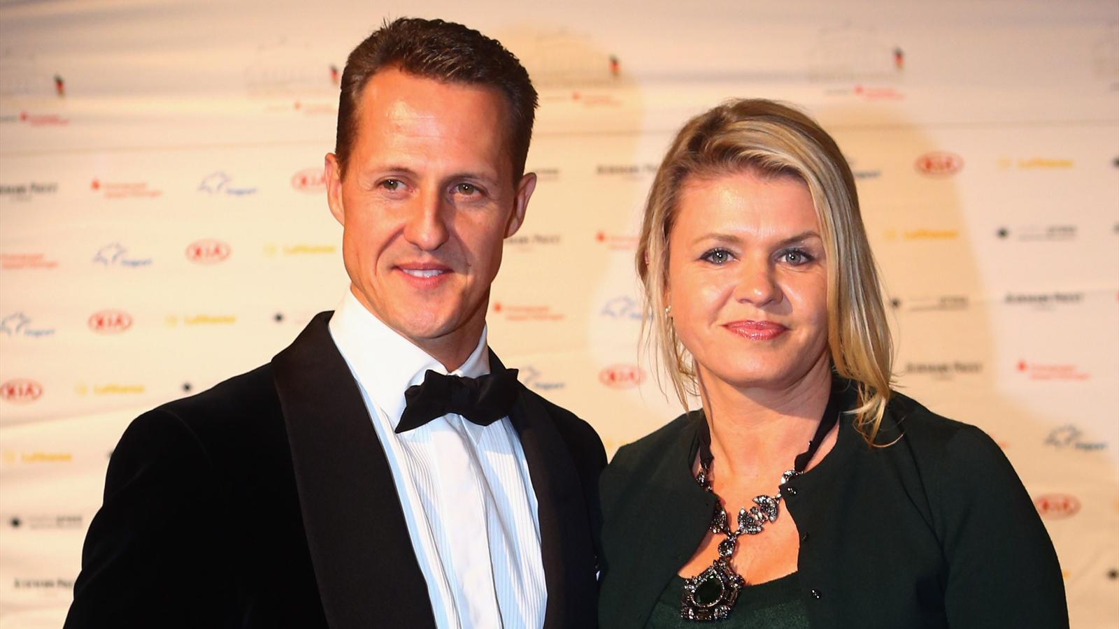 Formula One driver Michael Schumacher and his wife Corinna pose during the 31. Sportpresseball at Alte Oper on November 10, 2012