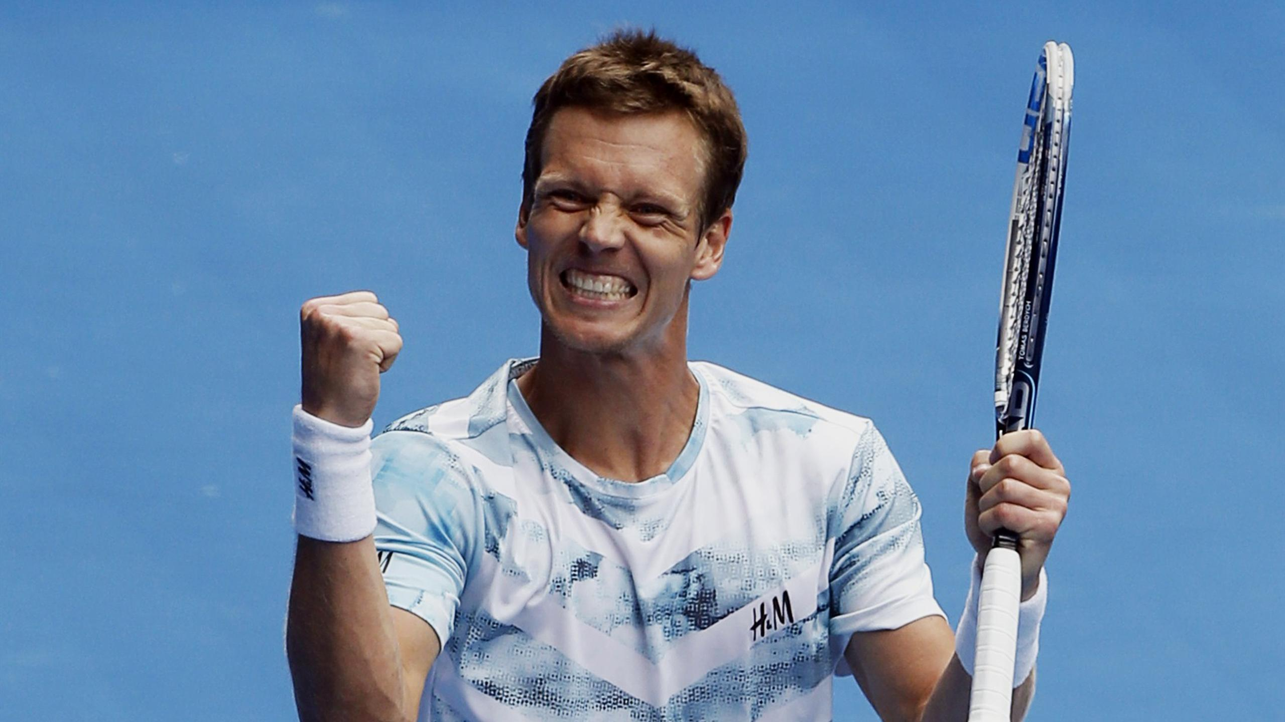 Tomas Berdych celebrates (Reuters)
