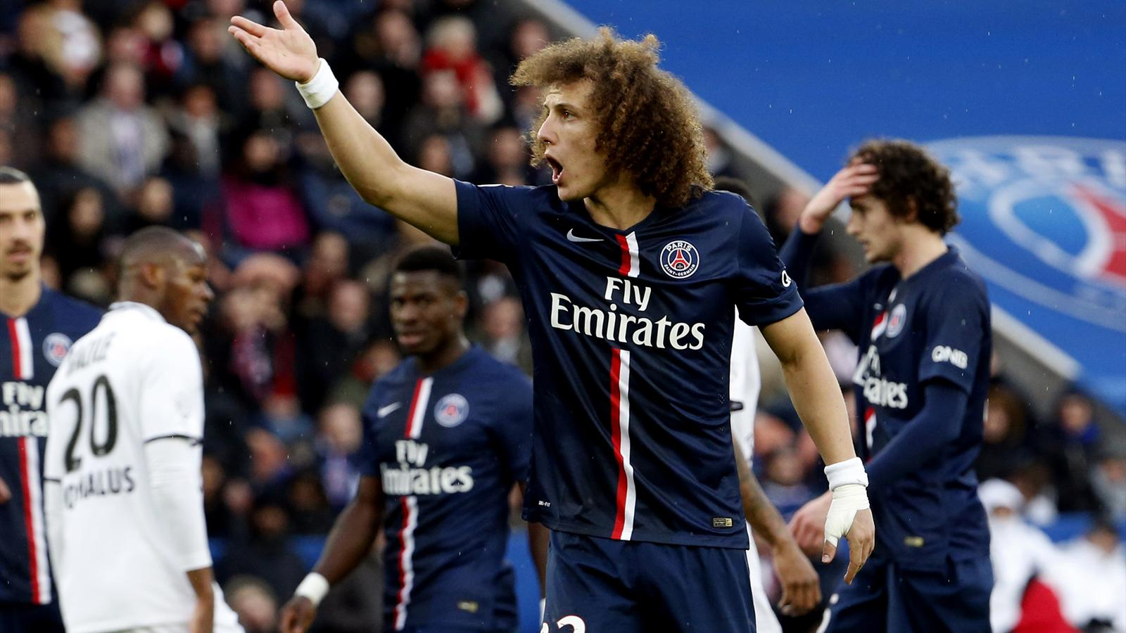 David Luiz (PSG) face à Caen