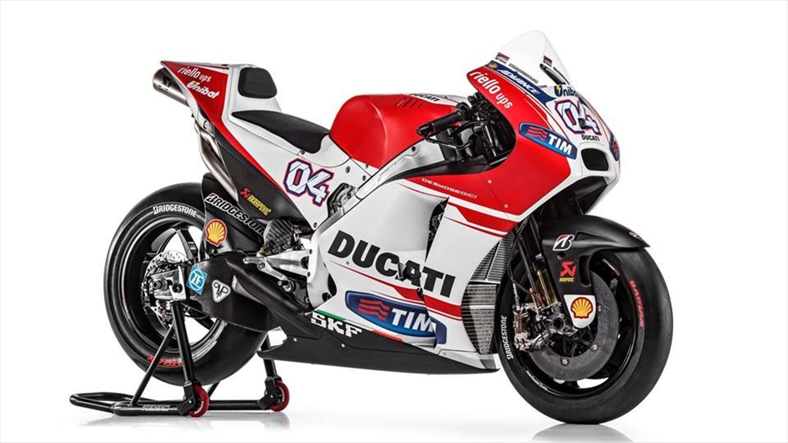 ducati launches 2015 motogp bike motorcycling eurosport. Black Bedroom Furniture Sets. Home Design Ideas
