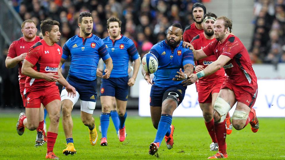Mathieu Bastareaud face au pays de Galles lors du Tournoi 6 nations 2015