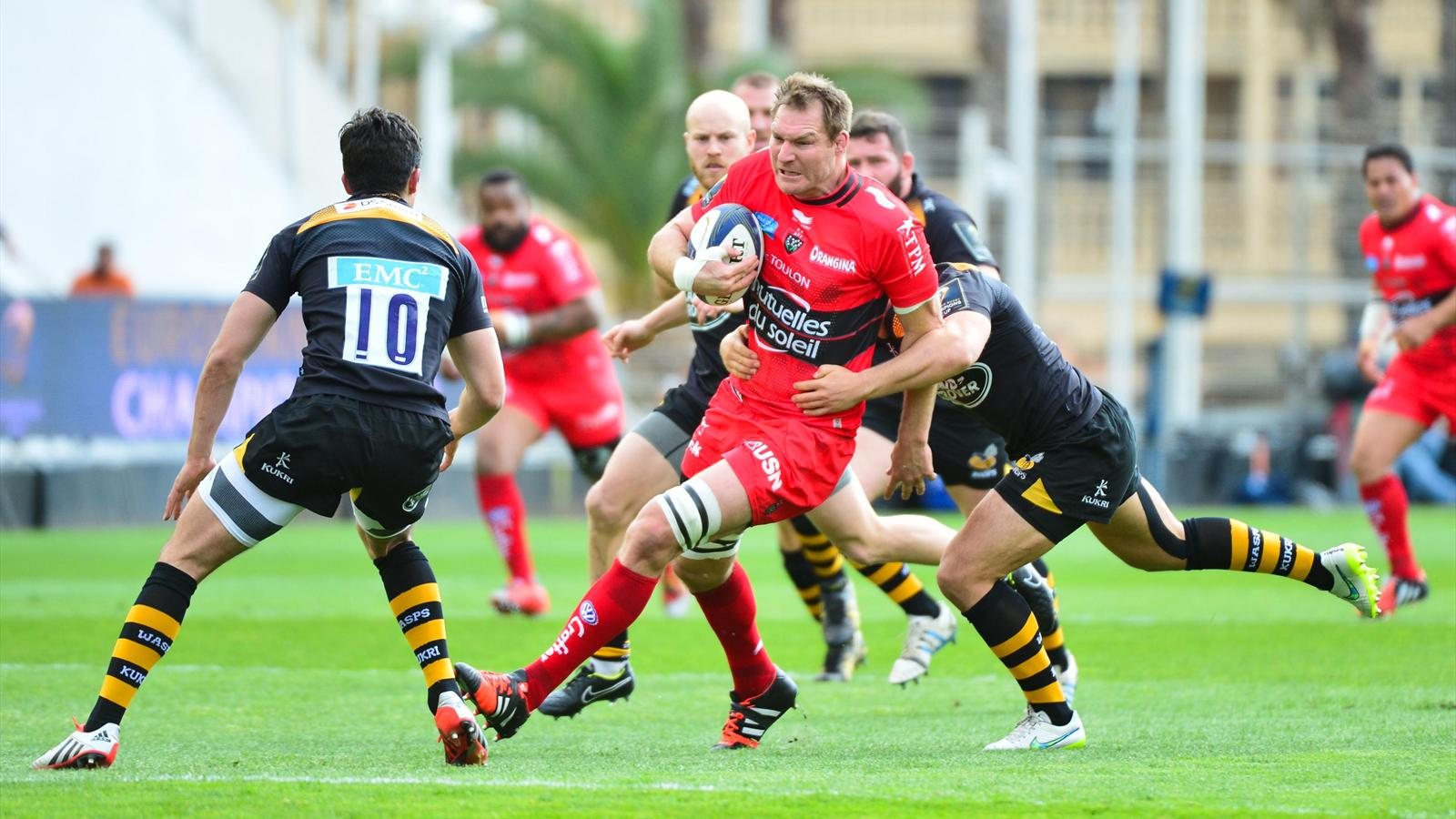 Ali Williams (Toulon) face aux London Wasps - 5 avril 2015