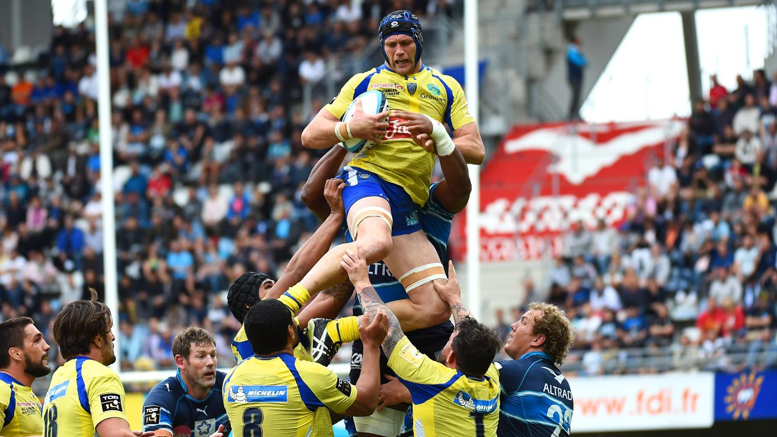 Julien Bonnaire (Clermont) face à Montpellier - 23 mai 2015