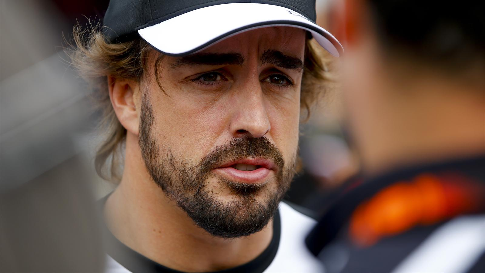 McLaren driver Fernando Alonso in the paddock at the Austrian Grand Prix