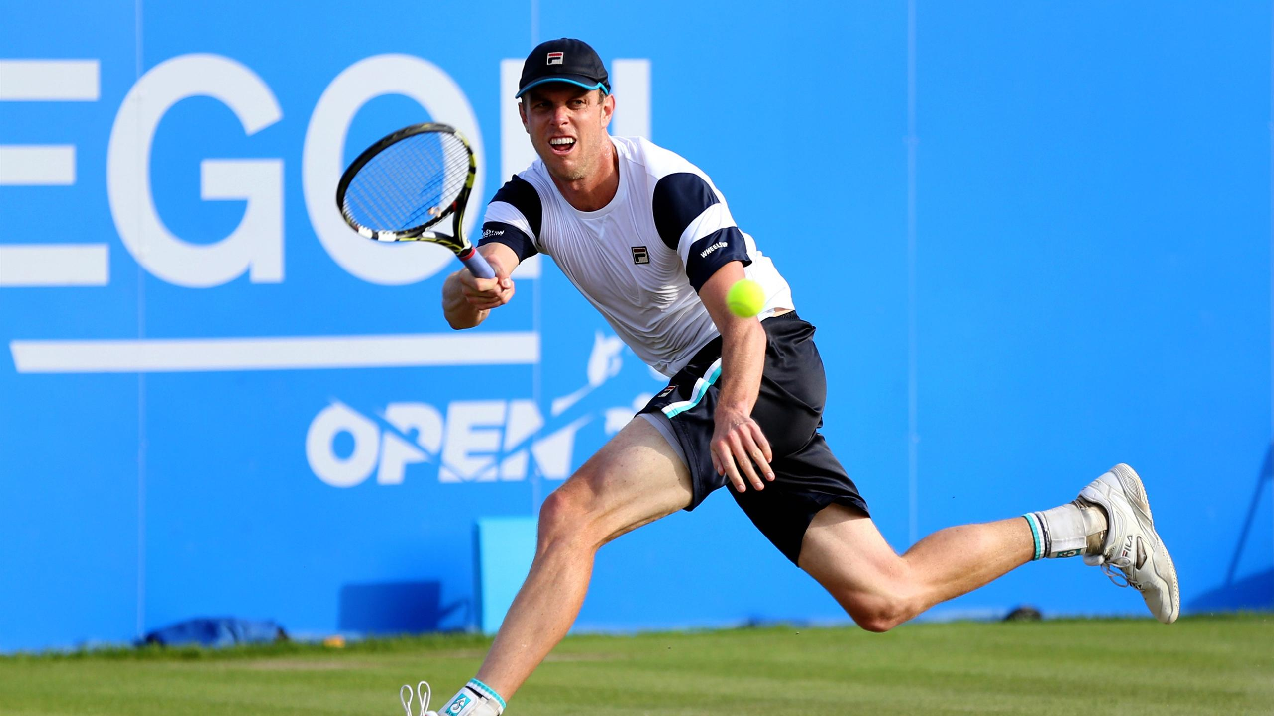 Sam Querrey in action during the fourth round