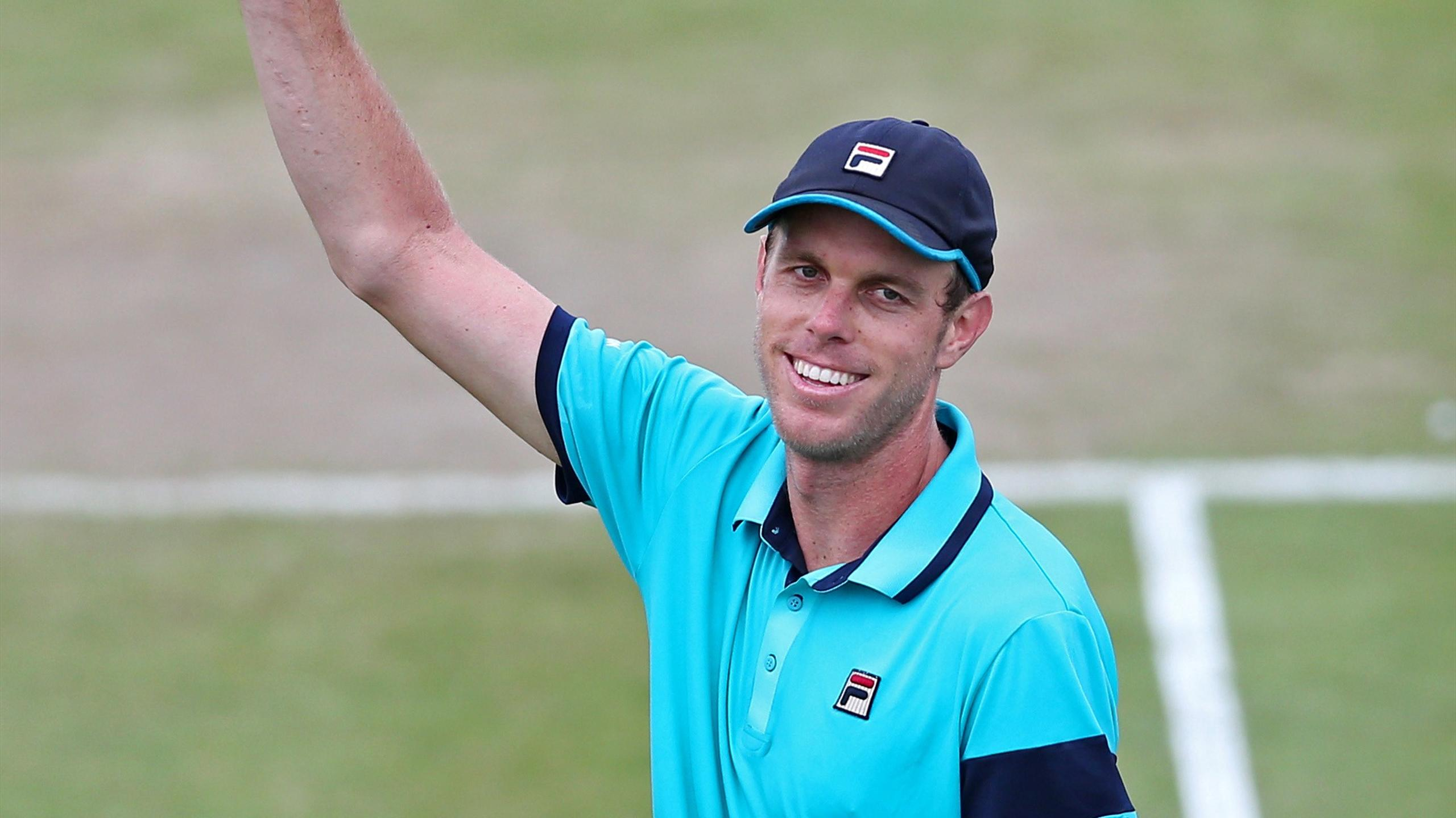 USA's Sam Querrey celebrates winning his semi final match
