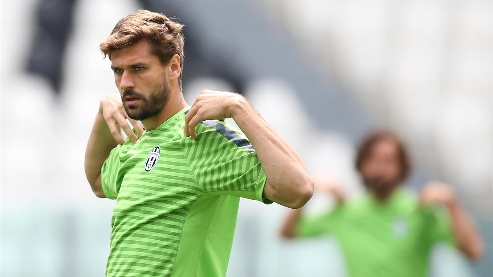 Juventus' Spanish forward Javier Fernando Torres Llorente takes part in a training session on June 1, 2015 at the Juventus Stadium in Turin, five days ahead of the UEFA Champions League football final against Barcelona